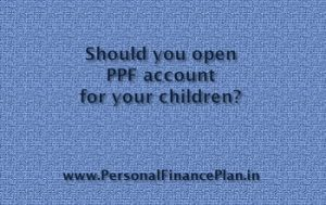 PPF account for Children