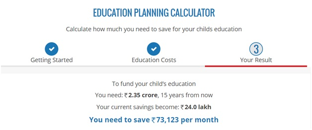 BigDecisions Education planning calculator