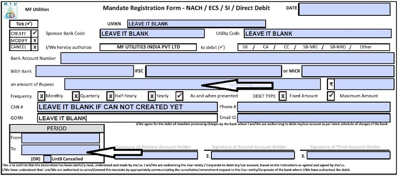 How to register MF Utility PayEezz form