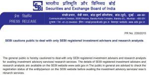 Looking for a financial planner SEBI Registered Investment adviser