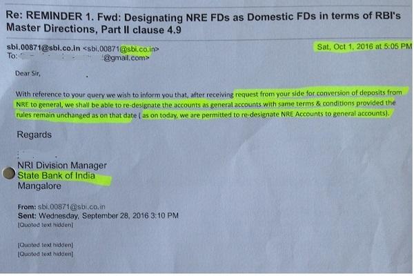 SBI NRE Fixed deposit return NRI