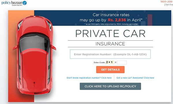 Car insurance premium from April 1 PolicyBazaar