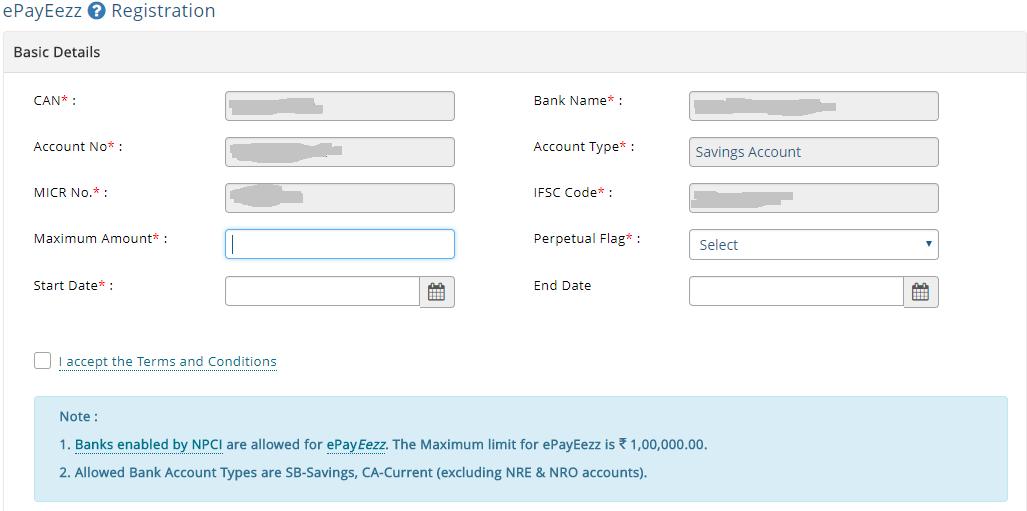 MFUtility ePayeezz registration 2